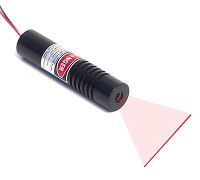 red line laser light